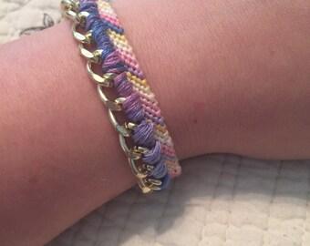 Gold Chain Embellished Friendship Bracelet