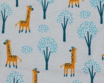 Blue Giraffe Recieving Blanket