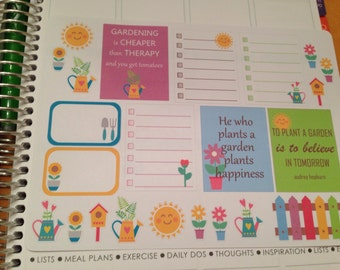 Not so Guilty Pleasures Gardening stickers set -  for your EC,PP, planner