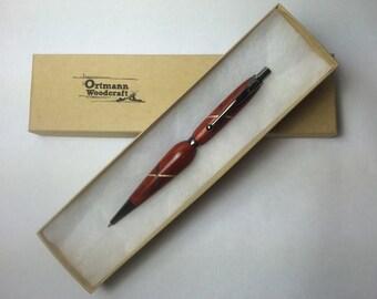 Padauk Handmade Pencil with a 1/2 Celtic Knot Inlay