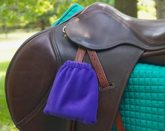 Purple English Stirrup Covers - Purple Horse Tack - Hunter Jumper - Dressage - Horse - Horse Riding - Horse Tack - Stirrup Bags
