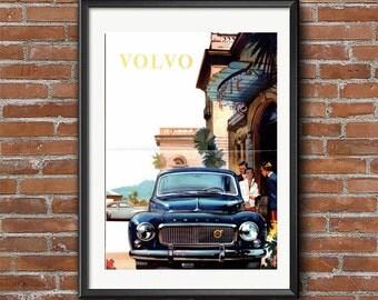 Volvo - Vintage Ad Poster, Swedih Poster, Volvo Print, Vintage Car Prints, Vintage Auto Posters, Large Print Wall Art Print