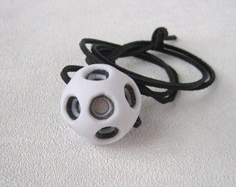black white extravagant jewelry white black pendant bead jewelry polymer clay jewelry bright abstract pendant large holes bright necklace