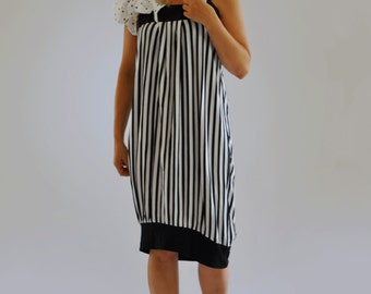 NEW COLLECTION/Black and white dress/Black white stripe/Casual dress/Cotton dress/Maxi dress/Beash dress/Party dress/Summer Dress by Gab