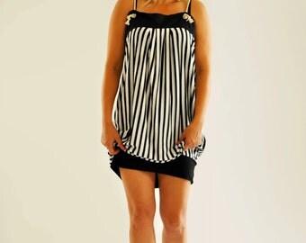 NEW COLLECTION/Black and white dress/Black white stripe/Casual dress/Cotton dress/Maxi dress/Beash dress/Party dress/Summer Dress /D1458