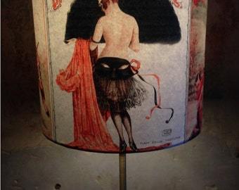 Vintage Parisian Style Boudoir inspired Lampshade 'PARISIENNE PROVOCATEUR'