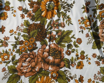 Vintage Floral Lined Curtains - 4 panels