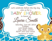 baby simba baby shower invitations popular items for simba baby shower
