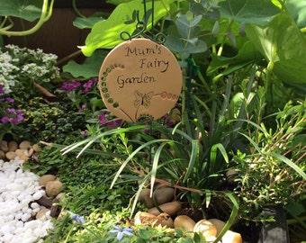 Fairy garden plaque