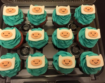 Adventure Time Finn Cupcake Toppers
