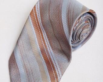 1980s Prince Adriani by Elite Koratron Blue Stripe Tie