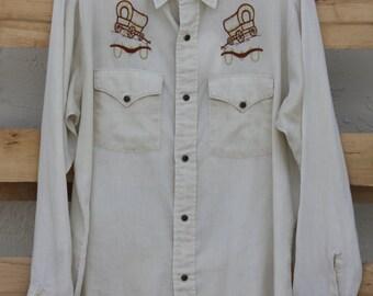Men's Vintage Western Shirt