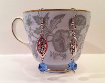 Eastern Charm Earrings With Faceted Beads