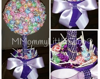 LARGE Lollipop Topiary, Candy Topiary, Lollipop Topiary, Candy Centerpiece, Lollipop Centerpiece, Dum Dum Lollipops Topiary
