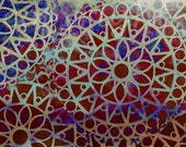 Oriental Paper Art journal, A3 / A4 immediate download, card making, Invitation Design, Art Journal, Scrapbooking