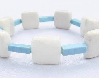 Handmade Jade & Turquoise Bracelet. Yeyetzi Bracelet