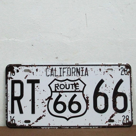 New California Route 66 Plate License Plate Art Home By