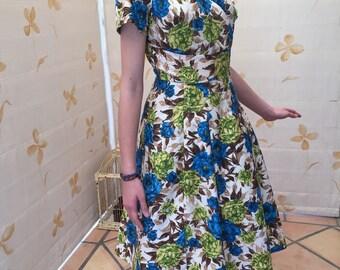 50's color splash vintage dress