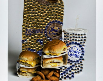 Food Photography- White Castle w/ Rhinestones-Still Life
