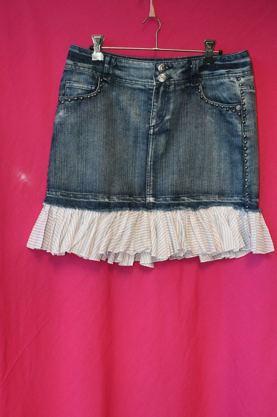 upcycle country denim skirt by littledodo on etsy