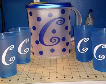 Personalized Pitcher and Cups