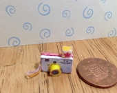 Hand made Dolls house Miniature replica vintage fisher price picture story camera 112 scale