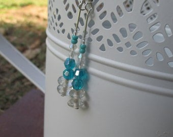 Aqua beaded earrings
