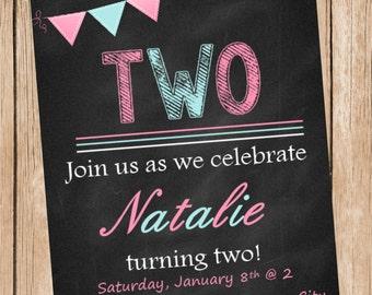 Sweet Girl Birthday Invitation
