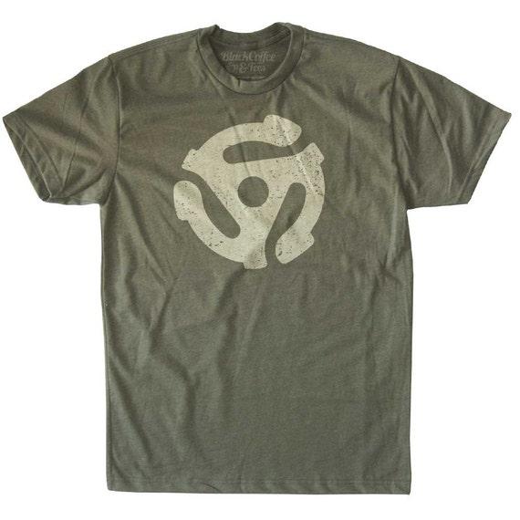 Vinyl Record Shirt - Men's 45 RPM T-Shirt - Hand Screen Printed Mens Record T-shirt- Music Lover Shirt- Mens Record Shirt - Mens 45 Shirt