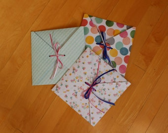 Gift Wrapping for hankies, tie patches.