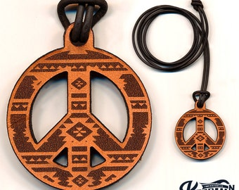 Laser Cut | Peace Sign Necklace / Keychain