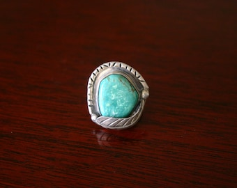 Native American Green Turquoise Ring