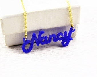 Acrylic Name Necklace,Custom Necklace,Acrylic Necklace,Personalized Necklace N017