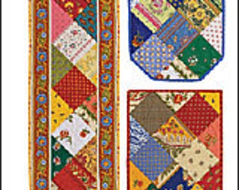 Anything But Boring French Table runner and placemat pattern