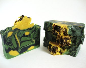 Green Tea & Activated Charcoal | Unscented Cold Process Soap | Artisan Soap | Handmade Soap | HandCrafted Soap | Vegan Soap | Shea Butter |