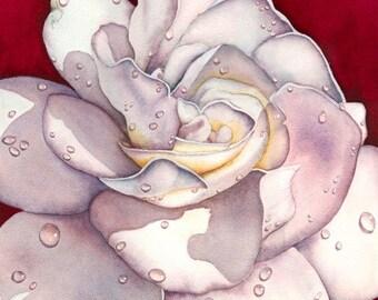 Watercolor painting...GARDENIA PARFUM...gardenias...giclee
