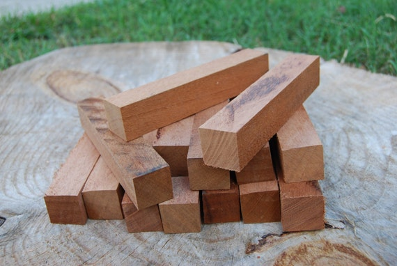 Reclaimed Mahogany pen turning blanks, 1 inch by 1 inch by 6 inches, turning supplies, wood craft.