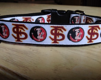 1 Inch Wide Florida State Grosgrain Dog Collar