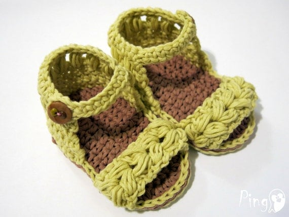 Free Crochet Pattern Baby Boy Vest : Crochet Sandals PATTERN: Baby Sandals Vivi Crochet by ...