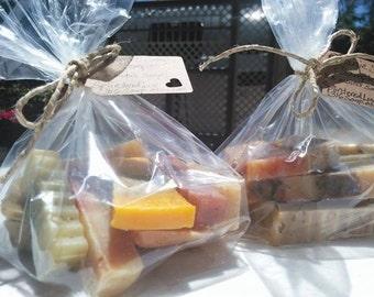 Mini Soap Bag/Organic Soap/Valentines Gift/Soap Samples/Odds And Ends/Soap Sampler/Essential Oil Soap/Natural Soap/Handmade Soap/Soap Favors