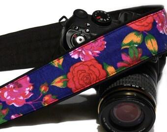 Flowers Camera Strap. Canon Nikon Camera Strap. Multicolor Camera Strap. Photo Camera Accessories