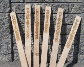 Wooden Garden Marker Stakes - Mother's Day
