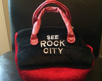 See Rock City Velvet Purse