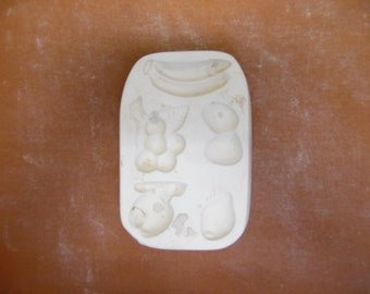 Unknown mold maker #B1 Fruit magnets ceramic mold