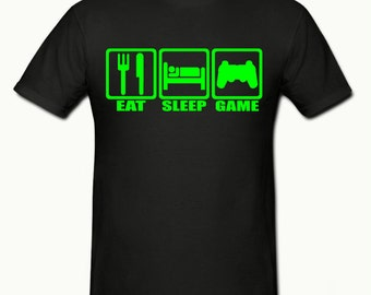 Eat sleep Game t shirt, boys t shirt sizes 5-15 years,children's gamer t shirt