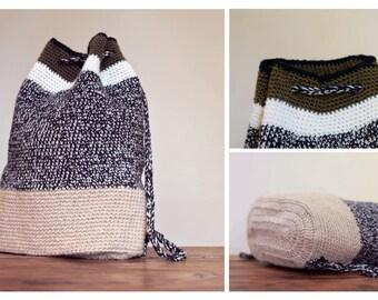 The Drawstring Backpack Crochet Pattern