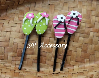 Lovely Hair Pin Slippers, hair pin clay, jewelry hair pin