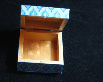 Exquisite decoupage wooden trinket box