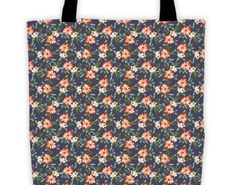 Scattered Floral Night Tote