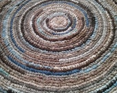 Deposit For Stacy On Custom Order for 5 Foot Round Rug - Your Choice of Colors ** Shipping Added to Final Payment** Photo is Sample Only